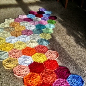 How to make a color placement layout crochet blanket