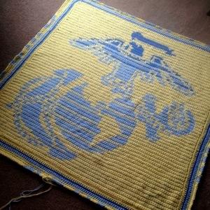 military crochet chart blanket