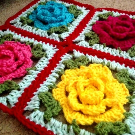 Babouska Rose Blanket Tutorial
