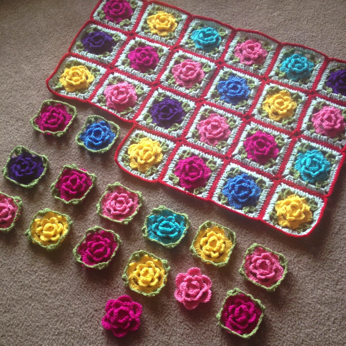 Babouska Rose Blanket Tutorial
