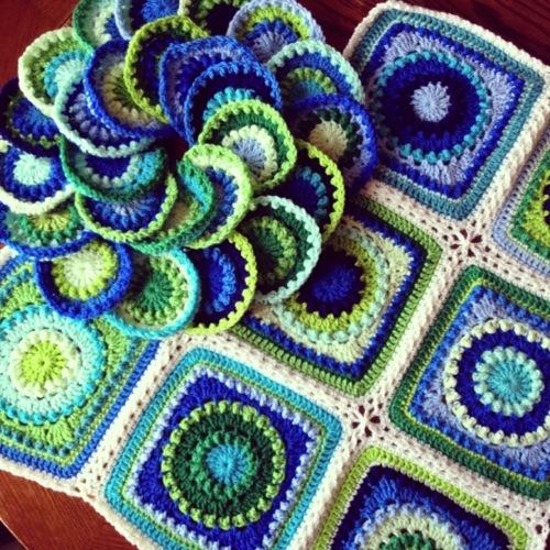 Textured Circles 8 Progress 2