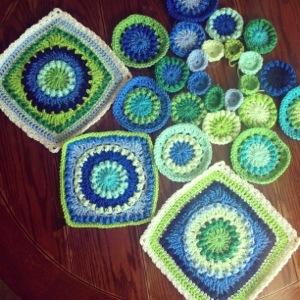 Textured Circles 8 Progress 1