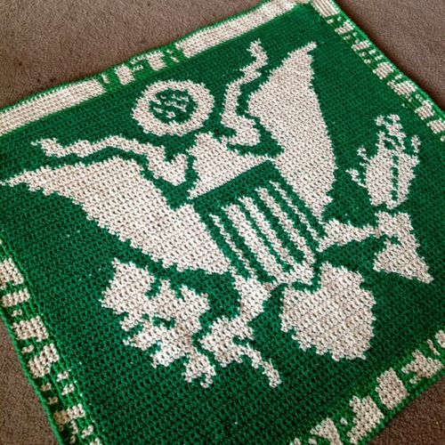 US Army Crochet Blanket