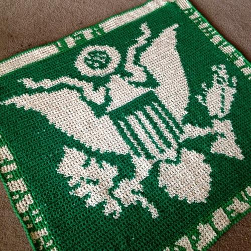 US Army Crochet Blanket