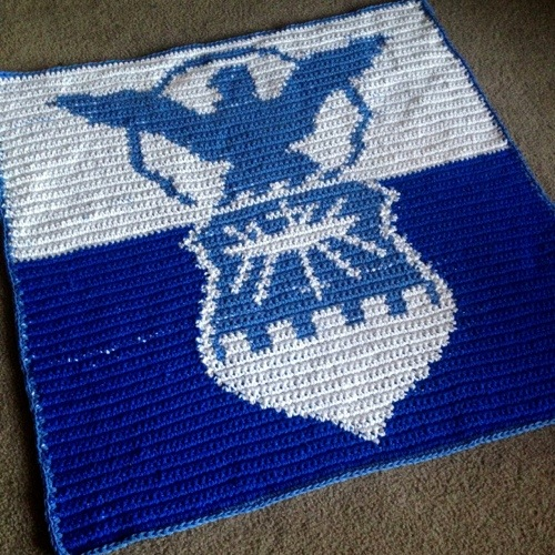 Air Force Crochet Blanket