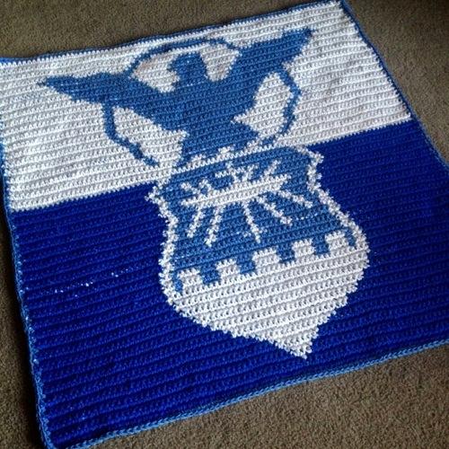 Air Force Crochet Blanket