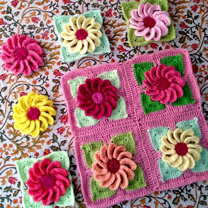 Square Blooms No 2 Babylove Brand